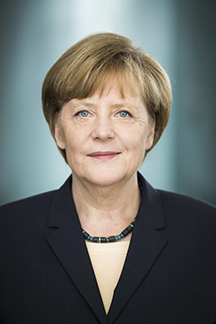 Angela Merkel, official sponsor and chancellor of Germany