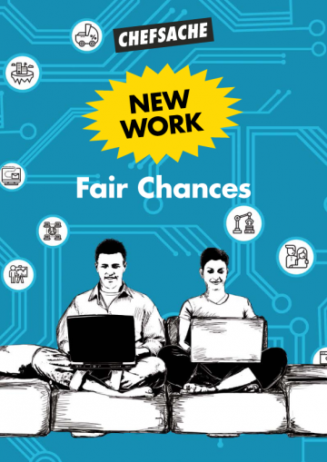 "Cover Jahresreport 2020 ""New Work - Fair Chances"""